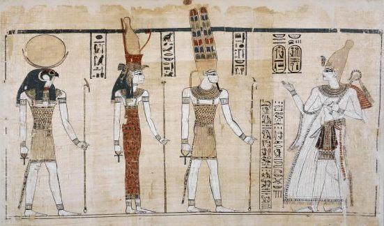 Ramses III ante la tríada de Tebas Fuente: The British Museum, Compass