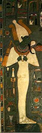 Imagen 13-1. Osiris. Tumba de Horemheb. XVIII Dinastía