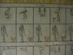 Sala de Pilares de KV 34 (Thutmose III) Lista de divinidades Fotografía de los autores