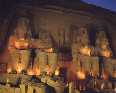 El templo de Abu Simble, vista general