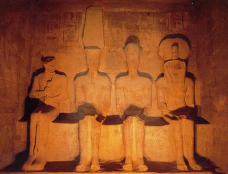 Santuario Ptah, Amón-Ra , Ramsés II divinizado y Ra-Horajti