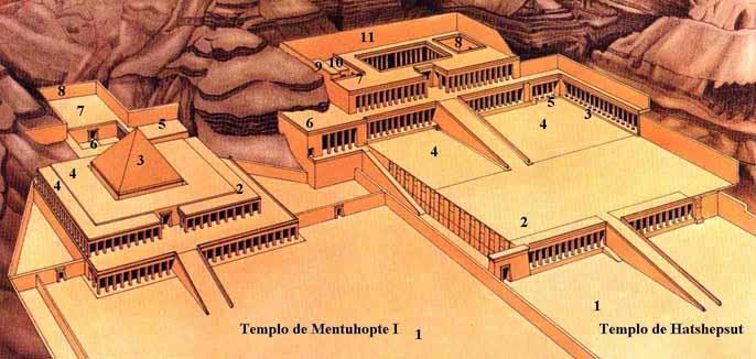Reconstrucción de los Templos de Deir el Bahari