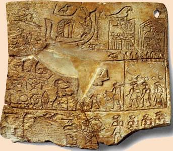 Tablilla de marfil de Aha Museo Egipcio (JE 31773). El Cairo