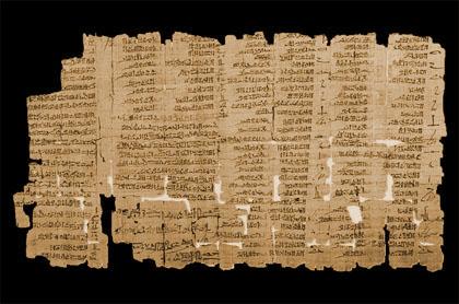 Detalle del Libro de los Sueños. Papiro Chester Beatty III, recto Fuente: R.B. Parkinson & S. Quirke. Papyrus. Egyptian Bookshelf The British Museum Press, 1995