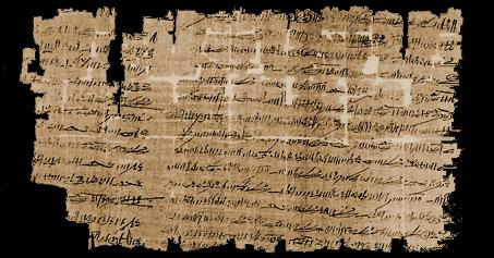 Copia de la Batalla de Qadesh. Papiro Chester Beatty III, verso Fuente: R.B. Parkinson & S. Quirke. Papyrus. Egyptian Bookshelf The British Museum Press, 1995
