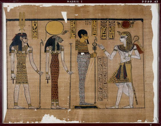 Ramses III ante la tríada de Menfis Fuente: The British Museum, Compass
