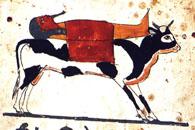 Viaje del difunto momificado sobre el Apis