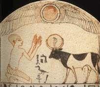Adoración del toro sagrado. Baja época. Museo del Louvre