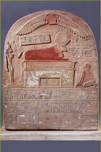 Estela de la Baja Época. Museo del Louvre, París
