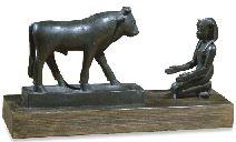 Apis adorado. Escultura de bronce de epoca tardía British Museum