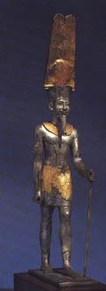 Escultura de oro y plata de Amón-Ra Museo Británico Londres