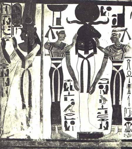 Osiris quien reposa en Ra y Ra quien reposa en Osiris. Tumba de Nefertari
