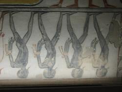 Detalle de la segunda división. <br> Tumba de Ramsés IX (KV6) Fotografía: Francisco López