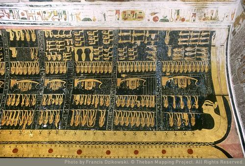 Horas 1-6, nombres y epítetos de Ramsés VI