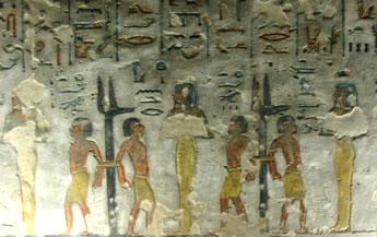 Sexta división, segundo registro Tumba de Ramsés IIII (KV 11) Fotografía de Francisco López