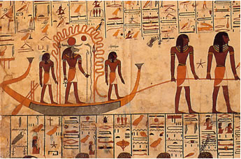 Cuarta división Tumba de Sethy I (KV 17) Dibujo de Belzoni
