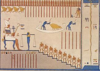 Quinta división. Sala de Osiris Tumba de Ramsés VI (KV 9) Description de l'Egypte, Tome 2.